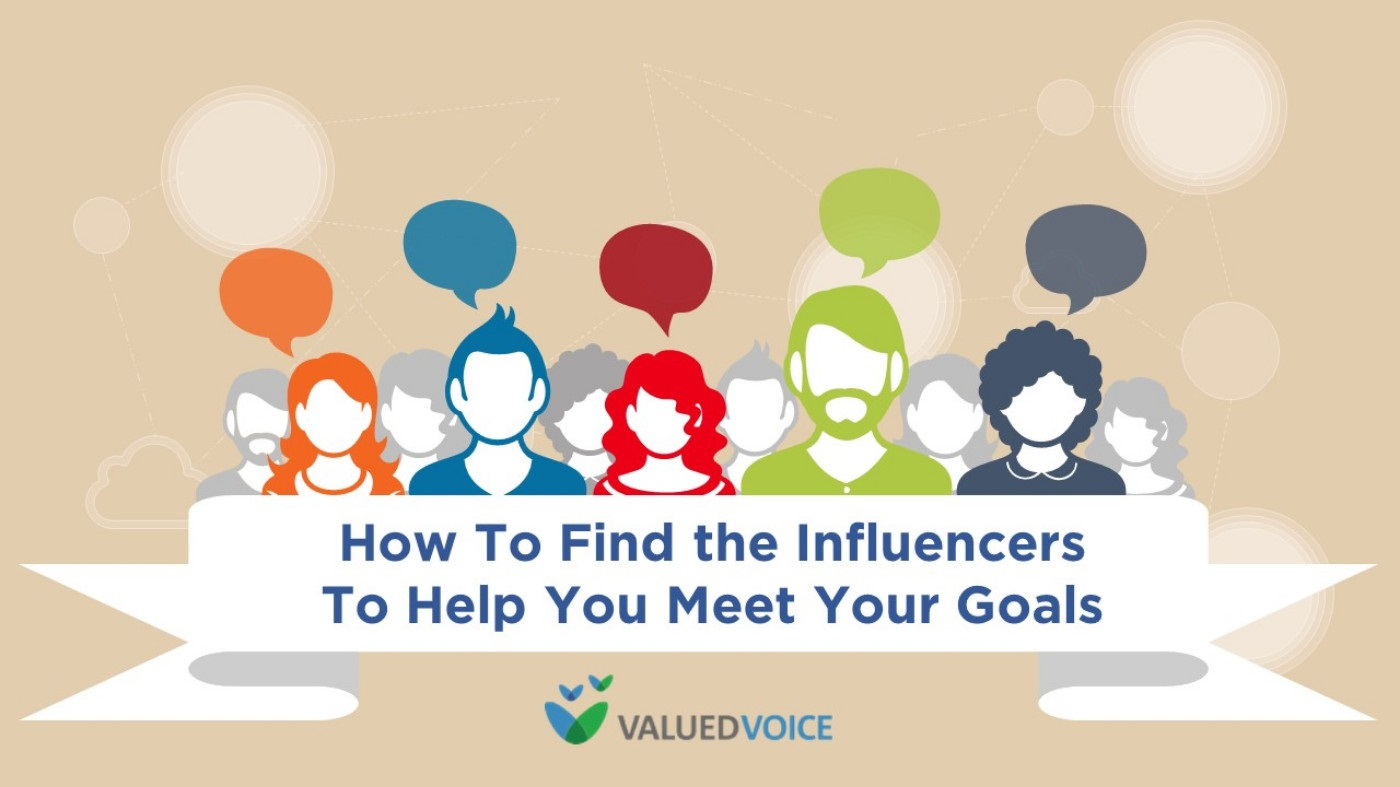 How to Find the Influencers to Help You Meet Your Goals